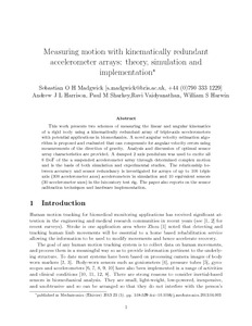 Measuring motion with kinematically redundant accelerometer arrays