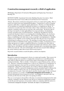 sample of research papers related in mechanical engineering